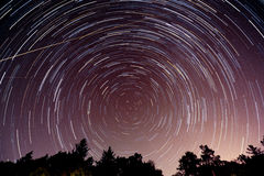 Star trails in Indiana Royalty Free Stock Photography
