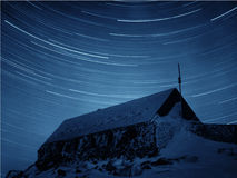 Star Trails from Mount Washington Stock Images