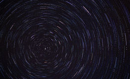 Star trails movement Royalty Free Stock Photo