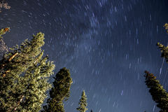 Star Trails at Night Astrophotography Stock Photography