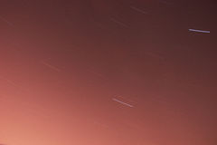 Star trails. Night. 30 minutes. Stock Images