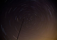 Star trails in the night skies Stock Photography