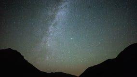 Star Trails Night Sky Cosmos Galaxy Time-lapse over plateau on Kackar Mountains, Turkey. Star Trails Night Sky Cosmos Galaxy Time-lapse over plateau on Kackar stock video footage