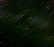 Star Trails. Night sky, France Stock Photo