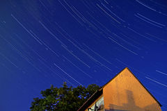Star trails in the night sky Royalty Free Stock Images