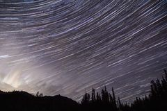 Star Trails Stock Image