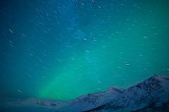 Star Trails and Northern Lights Stock Images