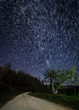 Star Trails Over The Blue Ridge Mountains Royalty Free Stock Image