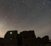 Star Trails over Fort Churchill, Nevada Royalty Free Stock Photos