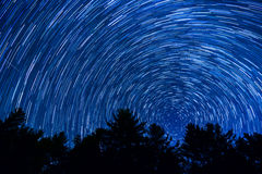 Star Trails Over North Carolina Stock Photo