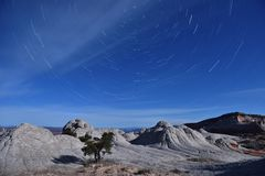 Star Trails over White Pocket, Paria Canyon-Vermilion Cliffs Stock Images