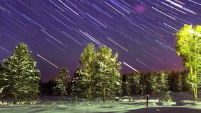 Star Trails. Panorama. TimeLapse stock video footage