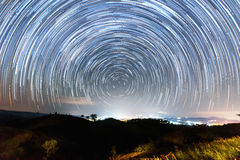 Star trails. On the sky Royalty Free Stock Photography