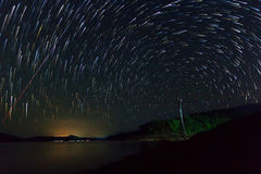 Star trails. On the sky Royalty Free Stock Image