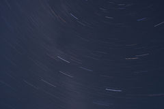 Star trails space. Space / universe / astronomy stars background: star region around the Cygnus constellation shot with a long exposure resulting (due to the Royalty Free Stock Photos