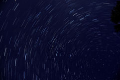 Star trails space night sky Stock Photos