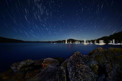 Star trails in Sydney Royalty Free Stock Photography