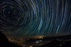The Star Trails royalty free stock photo