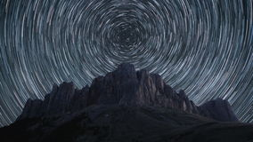 Star trails time-lapse. stock video