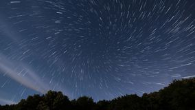 Star Trails vortex time lapse. Beautiful night sky.