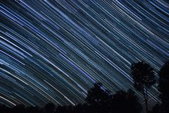 Star Trails west Royalty Free Stock Image