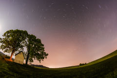 Star Trails, Zilina, Slovakia Royalty Free Stock Images