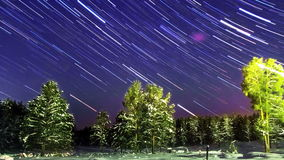 Star Trails. Zoom. Time Lapse stock video