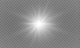 Star on a transparent background,light effect,vector illustration. burst with sparkles. Royalty Free Stock Image
