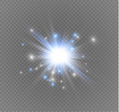 Star on a transparent background,light effect,vector illustration. burst with sparkles. Sun.Special effect  on transparent background.spark Stock Images