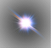 Star on a transparent background,light effect,vector illustration. burst with sparkles. Sun.Special effect  on transparent background.spark Royalty Free Stock Photography