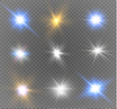 Star on a transparent background,light effect,vector illustration. burst with sparkles. Sun.Special effect  on transparent background.spark Royalty Free Stock Images