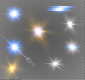 Star on a transparent background,light effect,vector illustration. burst with sparkles. Sun.Special effect  on transparent background.spark Royalty Free Stock Image