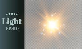 Star on a transparent background,light effect,vector illustration. burst with sparkles. Stock Images