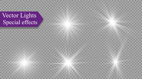 Star on a transparent background,light effect,vector illustration. burst with sparkles. Sun.Special effect isolated on transparent background.spark Stock Photos