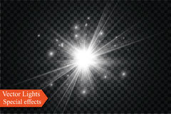 Star on a transparent background,light effect,vector illustration. burst with sparkles. Sun.Special effect isolated on transparent background.spark Stock Photo