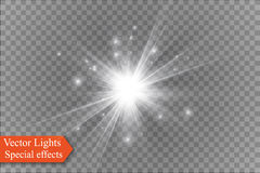 Star on a transparent background,light effect,vector illustration. burst with sparkles. Sun.Special effect isolated on transparent background.spark Royalty Free Stock Photo