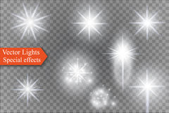 Star on a transparent background,light effect,vector illustration. burst with sparkles. Sun.Special effect isolated on transparent background.spark Royalty Free Stock Photos