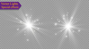 Star on a transparent background,light effect,vector illustration. burst with sparkles. Sun.Special effect isolated on transparent background.spark Royalty Free Stock Images