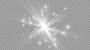 Star on a transparent background,light effect,vector illustration. burst with sparkles. stock illustration
