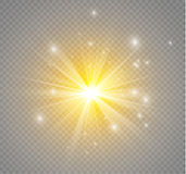 Star on a transparent background,light effect,vector illustration. burst with sparkles. Sun.Special effect isolated on transparent background.spark Royalty Free Stock Image