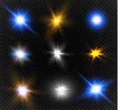 Star on a transparent background,light effect,vector illustration. burst with sparkles. Stock Image