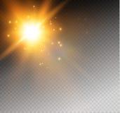 Star on a transparent background,light effect,vector illustration. burst with sparkles. Stock Photos