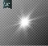 Star on a transparent background,light effect,vector illustration. burst with sparkles. Stock Photography