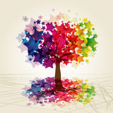 Star tree. Illustration for your design Stock Photo