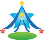 Star tree. A vector drawing represents star tree design Stock Image