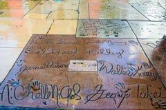 Star Trek Handprints e passeggiata di Hollywood delle firme di fama Fotografia Stock