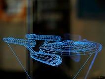 Star Trek USS Enterprise model stock image