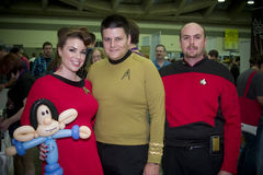 Star Trek an Versammlung Baltimores Comicon Stockbild