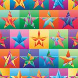 Star triangle cut color symmetry seamless pattern. This illustration is design star triangle cut with colorful square symmetry in seamless pattern royalty free illustration