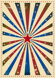 Star tricolor paper Royalty Free Stock Image